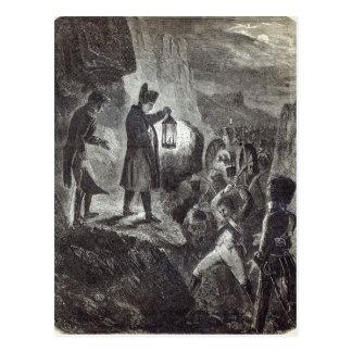 Carte Postale Napoléon dégageant l'artillerie de Lannes