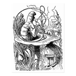 Carte Postale Narguilé fumant Caterpillar Alice au pays des