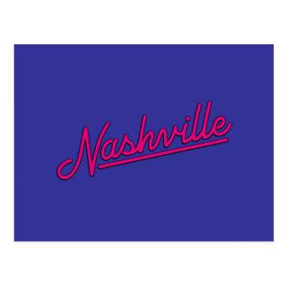 Carte Postale Nashville en magenta