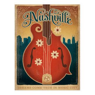 Carte Postale Nashville, TN - mandoline de fleur