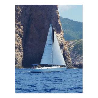 Carte Postale Navigation le long de la côte de la Sardaigne