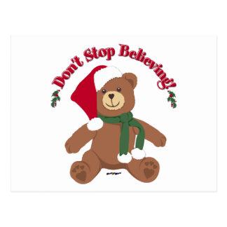Carte Postale Ne cessez pas la croyance ! Ours de Noël