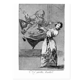 Carte Postale Ne criez pas, idiot par Francisco Goya