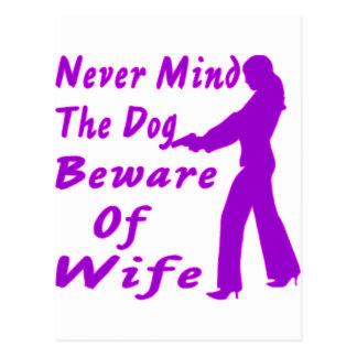 Carte Postale Ne vous occupez jamais du chien prennent garde de
