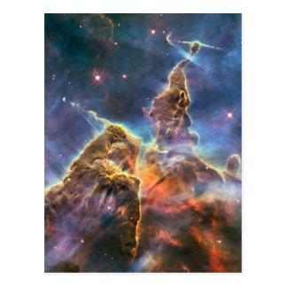 Carte Postale Nébuleuse de Carina par le télescope spatial de