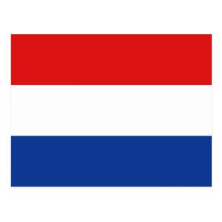 Carte postale néerlandaise de drapeau