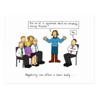 Carte Postale Négativité dans l'humeur de lieu de travail