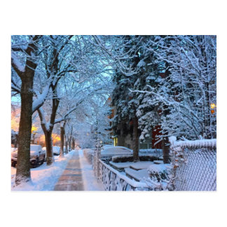 Carte Postale Neige à Montréal