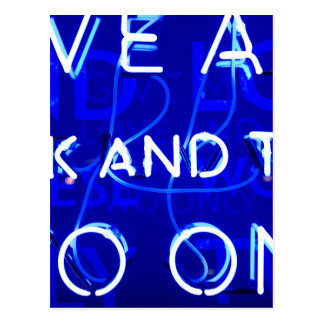 Carte Postale Néon bleu