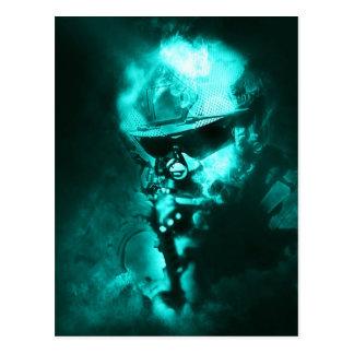 Carte Postale néon de soldat