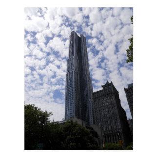 Carte postale New York City de gratte-ciel de rue