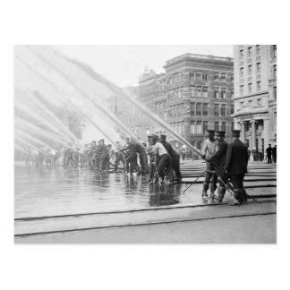 Carte Postale New York City Firemen, 1908