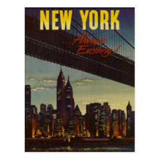 Carte Postale New York City vintage, Etats-Unis -