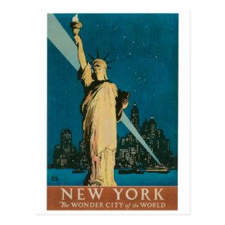Carte Postale New York : La ville de merveille de l'affiche du