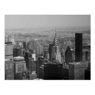 Carte Postale New York, Manhattan noire et blanche