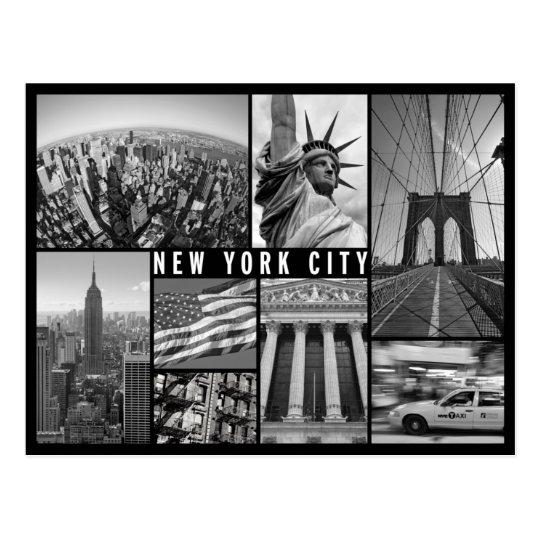 Carte Postale New York.Carte Postale New York Noir Et Blanc