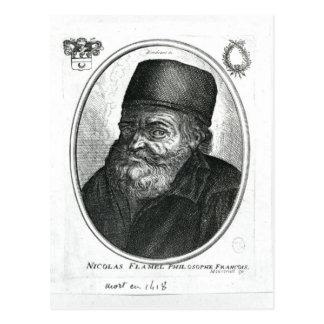 Carte Postale Nicolas Flamel gravé par Balthazar Moncornet