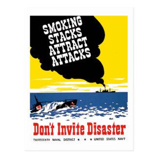 Carte Postale N'invitez pas la catastrophe