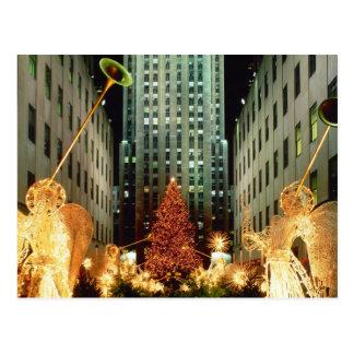Carte Postale Noël au centre de Rockefeller