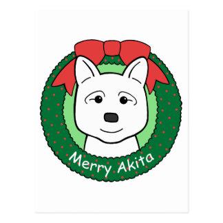 Carte Postale Noël d'Akita