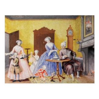 Carte Postale Noël dans le ménage royal de l'impératrice