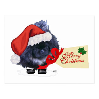 Carte Postale Noël de chiot de Pekingese