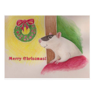 Carte Postale Noël de mauvais poil
