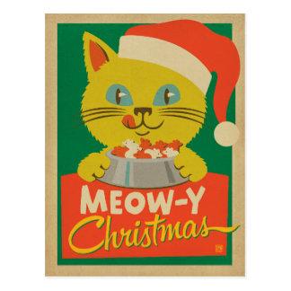 Carte Postale Noël de Meowy