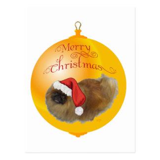 Carte Postale Noël de Pekingese