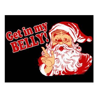 Carte Postale Noël drôle Père Noël