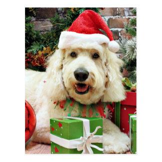 Carte Postale Noël - GoldenDoodle - Peyton