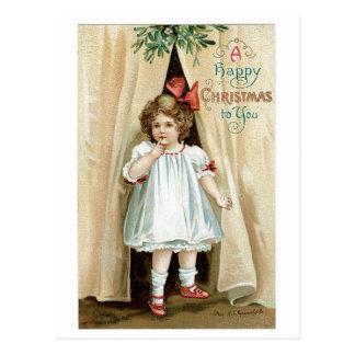 Carte Postale Noël heureux à vous - Ellen Clapsaddle