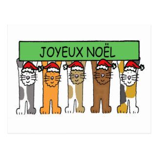 Carte Postale Noël heureux français de Joyeux Noel