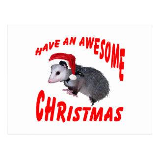 Carte Postale Noël impressionnant d'opossum