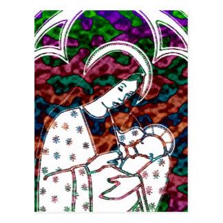 Carte Postale Noël Mary et art de Jésus de bébé