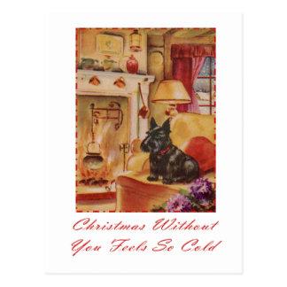 Carte Postale Noël sans vous se sent si froid