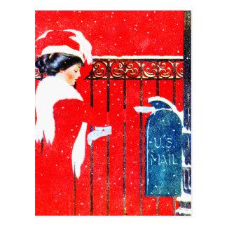 Carte Postale Noël victorien de Coles Phillip