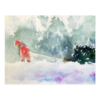 Carte Postale Noël vient