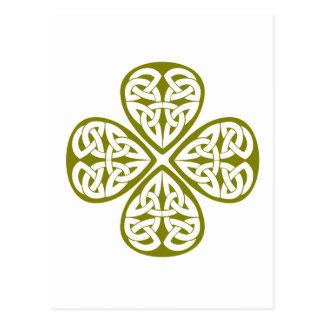 Carte Postale noeud olive de celtic de shamrock