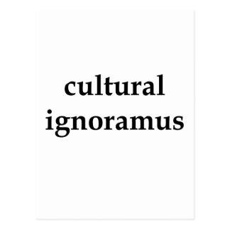 Carte Postale noir culturel d'ignorant