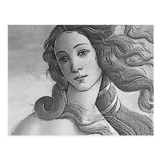 Carte Postale Noir et blanc - Birh de Vénus, déesse