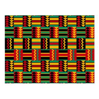 Carte Postale Noir rouge de vert jaune de panier de fierté