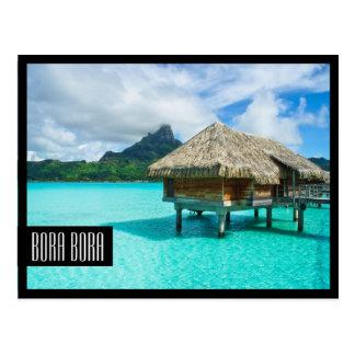 carte postale noire de cadre de Bora Bora de