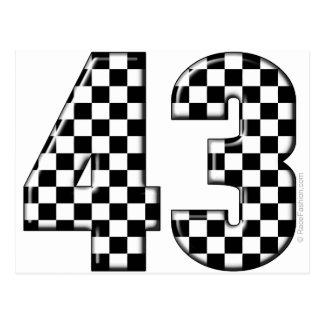 Carte Postale nombre 43 checkered
