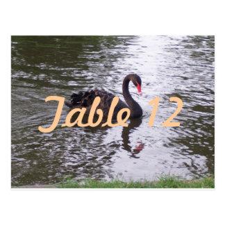 Carte Postale Nombre de Tableau de cygne noir