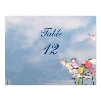 Carte Postale Nombre en pastel de Tableau de réflexions