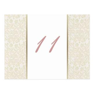 Carte Postale Nombres de Tableau d'ivoire et d'or
