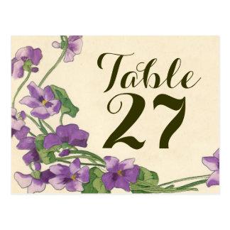 Carte Postale Nombres floraux de table