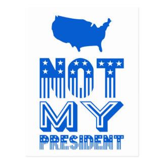 Carte Postale Non mon bleu du Président Amérique
