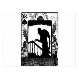 Carte Postale Nosferatu-ombre sur les escaliers